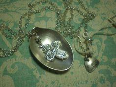 Catholic Cross Silver Pendant Made of  by MonkeyCommandoArts, $42.00