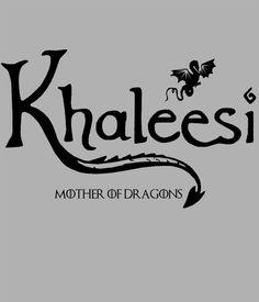 Camiseta chica Juego de Tronos. Khaleesi mother of dragons