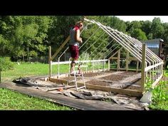 Building A Greenhouse - DIY PVC Greenhouse - YouTube