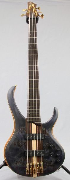 "Ibanez BTB1605 Premium 5-String Bass Guitar Looking at this beauty, the words ""custom"" and ""boutique"" instantly come to mind. Select materials, top-of-the-line components, and a neck-thru body are all"