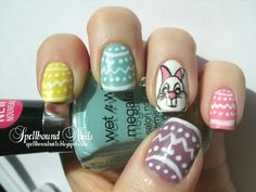 Easter Bunny  http://spellboundnails.tumblr.com/image/23052343847