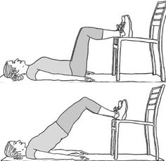 Trabajando parte trasera de la pierna