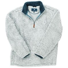 Quarter Zip Sherpa Pullover in Alloy Grey by The Southern Shirt Co ...