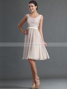 Knee Length Chiffon Dress