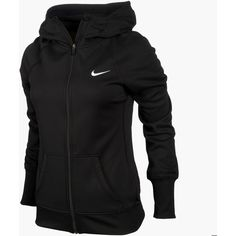 Women's Nike All Time Full-ZIp Hoodie ($42) ❤ liked on Polyvore featuring activewear, jackets, tops, hoodies, outerwear, nike, nike activewear and nike sportswear