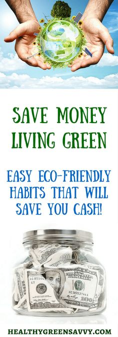 Go green to some serious green! Check out these easy strategies for living greener that can save you hundreds, even thousands, of dollars! Frugal Living Tips, Frugal Tips, Saving Ideas, Money Saving Tips, Money Tips, Natural Living, Simple Living, Green Living Tips, Natural Lifestyle