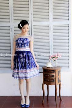 Ikat Dress | Pendapa Midnight Blue Dress | DhieVine | Redefine You