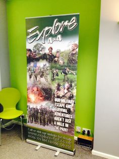 One of our best sellers is pull up banners. We recently designed and printed this pull up banner for Explore 4x4, helping them to showcase and promote their military escape & survival adventures.