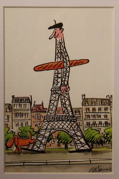 Is the dog peeing on the Eiffel Tower?