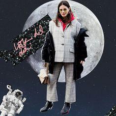 Príncipe de Gales: el print qué pasó de ser godínez a un must del street style en 2017. Lo seguiremos viendo en 2018 así que más te vale tenerlo en el clóset #ELLElookdeldia via ELLE MEXICO MAGAZINE OFFICIAL INSTAGRAM - Fashion Campaigns  Haute Couture  Advertising  Editorial Photography  Magazine Cover Designs  Supermodels  Runway Models