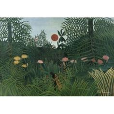 Foret Vierge au Soleil c 1907 Henri Rousseau (1844-1910 French) Kunstmuseum Basel Switzerland Canvas Art - Henri Rousseau (24 x 36)