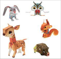 Djeco paper toys, you gotta love `em! Gekocht voor Sijmen. De uil is al klaar en zit al in zijn boom