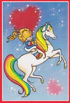 Rainbow Brite and Starlite Vintage Valentine My Funny Valentine, Vintage Valentine Cards, Valentine Special, Valentine Ideas, Love Rainbow, Rainbow Colors, Rainbow Unicorn, Rainbow Brite, Party Pictures