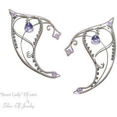 Elf Ears Swan Lady, elf ear cuff, elf ear wrap, swan jewelry, elf... (63 CAD) ❤…