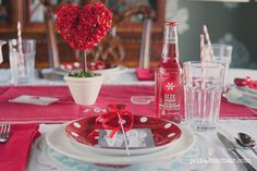 Happy Valentine's Day- Table Setting