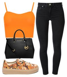 """""""creepers * orange * camo"""" by mykail2xx ❤ liked on Polyvore featuring Puma, WearAll, Acne Studios and MICHAEL Michael Kors"""