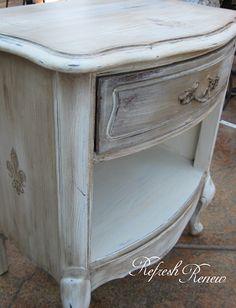 Refresh - Renew: How to Stencil Furniture with Dark Wax