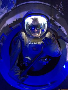 Geoff Notkin climbing into an actual spacesuit, worn by former astronauts, to take one of the most random photos of all time. And yes, this happened in our office at Aerolite Meteorites HQ. #notyouraveragedayatwork
