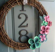 Grapevine grinalda feltro artesanal porta decoração da parede - Primavera It On 12in