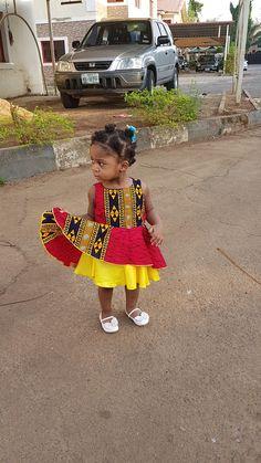 Items similar to Ankara dress/ girl dress/ toddler ankara dress / african girl clothing/ african girl dress/ easter dress / ankara red dress/ African dress on Etsy African Babies, African Children, African Girl, African Wear, African Dress, African Fashion, Ankara Fashion, African Style, Toddler Dress