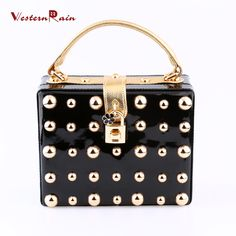 WesternRain New Promotion Popular Top Quality Gold Chains Clutch Shoulder Handbag For Women Evening Dinner Party 8093-5-B3 (Color: Black) Brand Name: WesternRain Item Type: bag Fine or Fashion: Fashion Included Additional Item:bag Style: Trendy Gender:Women Material:PU leather Occasion:Wedding,Party Metals Type:Copper alloy Shape: Square Size of bag: 20cmX16cm