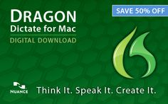 Get The World's Best-Selling Speech Recognition Software - Dragon Dictate for Mac 3 (50% off)