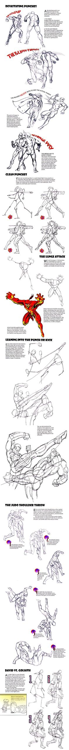How to Draw the Human Body - Tutorial: The Fight Scene for Comic / Manga Character Reference (scheduled via http://www.tailwindapp.com?utm_source=pinterest&utm_medium=twpin&utm_content=post1339925&utm_campaign=scheduler_attribution)