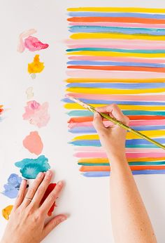 A spring color palette from Paper and Stitch. #behindthescenes #painting #colorpalette #spring