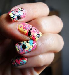 Graffiti nails second try http://www.makeupbee.com/look_Graffiti-nails-second-try_39873