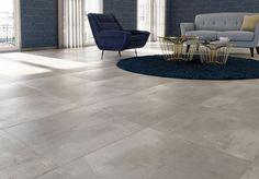 Concrete Tiles, Floor Design, Grand Format, Tile Floor, Sweet Home, New Homes, Flooring, Architecture, Living Room
