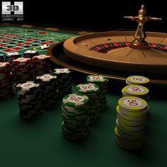 Casino Roulette Table 3D Lwo - 3D Model