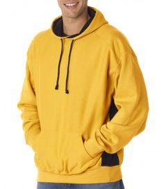 Badger Adult Cross-Grain Colorblock Hooded Fleece Get a special discount on #mensouterwear #menshoodies #mensjackets this season from ApparelRush.