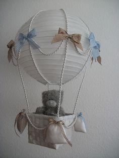 """Heissluftballon"" hellblau beige von Eye Candy  auf DaWanda.com"
