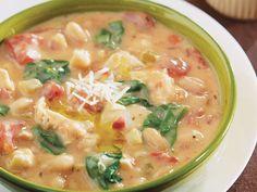 Creamy Tuscan Bean & Chicken Soup