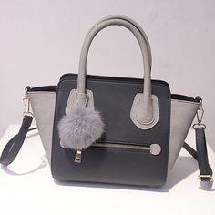 Leather Tote Bag Women Trapeze Fashion Designer Handbags