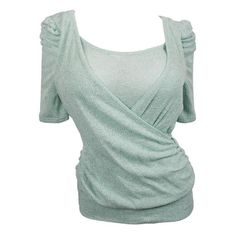eVogues Apparel Plus Size Layered Look Half Sleeve Knit Top Mint