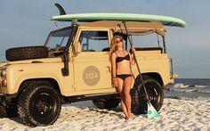 Land Rover Defender #beach #surf