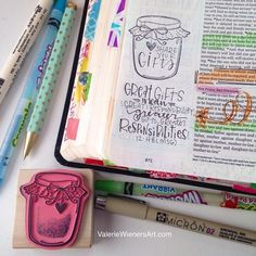 YOU have a gift, Share it. #valeriedoodlesthebible #illustratedfaith #journalingbible