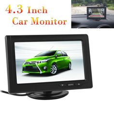 Car Rear View Parking Backup Monitor of 4.3 Inch 480 x 272 Color TFT LCD Screen for Reverse Camera DVD