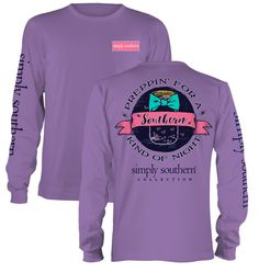 Summer evenings in the South are full of memory-filled events. Prepare for your Southern kind of night in this NEW long sleeve shirt from Simply Southern. We proudly offer free shipping on this shirt! #SimplySouthern #TheSouth #SouthernRecollection #Preppy
