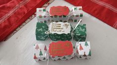 pootles inspired Christmas crackers with envelope punchboard