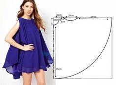 10 простых и эффектных платьев с выкройками - Своими руками
