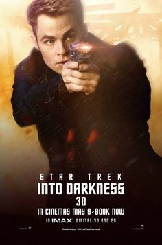 Star Trek Into Darkness, Chris Pine as James T. Kirk. He was so adorable and amazing.