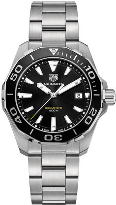 WAY111A.BA0928 NEW TAG HEUER AQUARACER MENS LUXURY WATCH IN STOCK - Click to View Mother's Day Luxury Watch Sales Event - FREE Overnight Shipping | Lowest Price Guaranteed - No Sales Tax (Outside California) - With Manufacturer Serial Numbers - Black Dial - Date Feature - Battery Operated Quartz Movement - 3 Year Warranty - Guaranteed Authentic - Certificate of Authenticity - Polished with Brushed Stainless Steel Case - Brushed Stainless Steel Bracelet - Scratch Resistant Sapphire Cry...