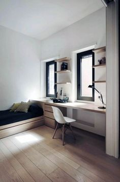 Gorgeous minimalist guy bedroom on this favorite site