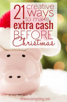 Could you use a little extra income before the Holidays? These 21 creative ways to make extra cash DON`T include working a seasonal part-time job and will give your budget a great head start!