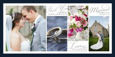 Mixbook's script collage wedding thank you cards allow you to share your wedding-day memories -- and they are simple to create.