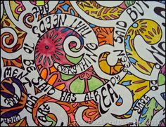 Draw Doodle and Decorate: Art Quotes doodled