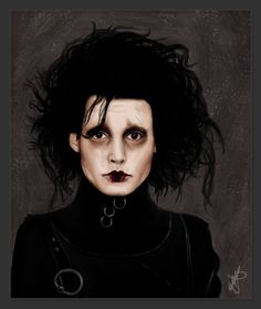 Edward Scissorhands by mitsukononame on deviantART illustration tim burton edward scissorhands Edward Scissorhands by mitsukononame on DeviantArt Estilo Tim Burton, Tim Burton Art, Johnny Depp, Coraline, Scissors Hand, Gothic Tattoo, Grunge, Corpse Bride, Arte Horror