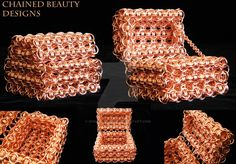 Copper Chainmaille Treasure Chest by ChainedBeauty.deviantart.com on @DeviantArt